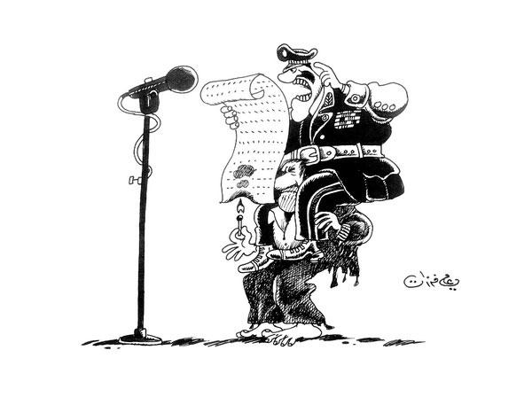 ali ferzat - علي فرزات-  كاريكاتير - عسكرتاريا - 221