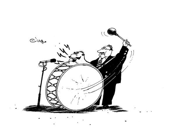 ali ferzat - علي فرزات-  كاريكاتير - احزاب سلطة - 236