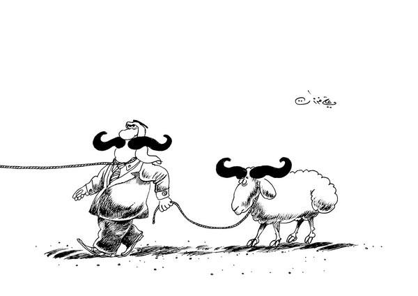 ali ferzat - علي فرزات-  كاريكاتير - مسخرة - 245