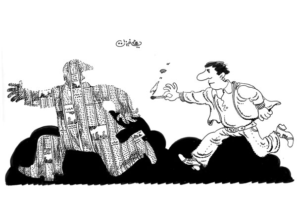 ali ferzat - علي فرزات-  كاريكاتير - سلطة - 257