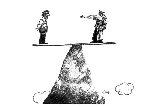ali ferzat - علي فرزات-  كاريكاتير - عسكرتاريا - 263