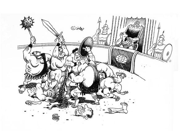 ali ferzat - علي فرزات-  كاريكاتير - حرب - 269