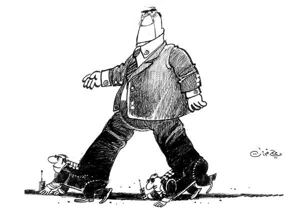 ali ferzat - علي فرزات-  كاريكاتير - احزاب سلطة - 275