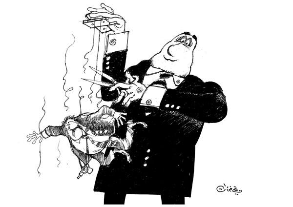 ali ferzat - علي فرزات-  كاريكاتير - سلطة - 281