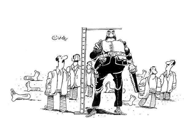 ali ferzat - علي فرزات-  كاريكاتير - دكتاتورية - 282