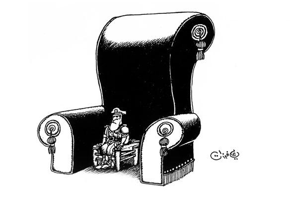 ali ferzat - علي فرزات-  كاريكاتير - كراسي - 288