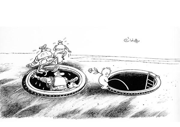 ali ferzat - علي فرزات-  كاريكاتير - عسكرتاريا - 289