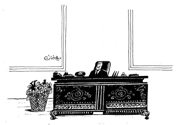 ali ferzat - علي فرزات-  كاريكاتير - كراسي - 294