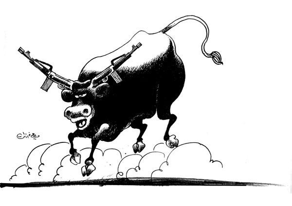ali ferzat - علي فرزات-  كاريكاتير - مافيات - 298