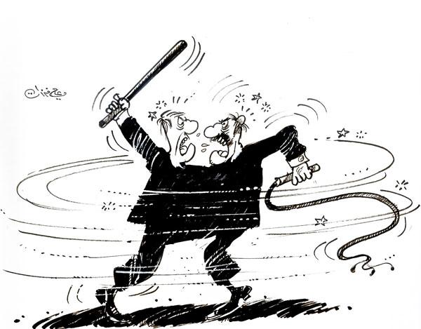 ali ferzat - علي فرزات-  كاريكاتير - احزاب سلطة - 303