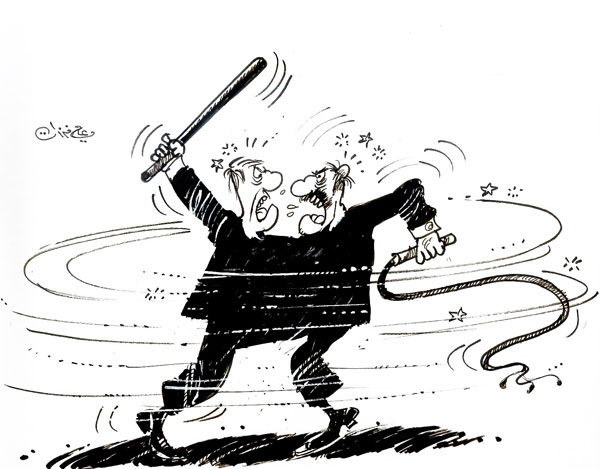 ali ferzat - علي فرزات-  كاريكاتير - مافيات - 303