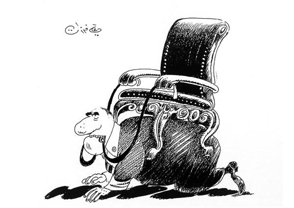 ali ferzat - علي فرزات-  كاريكاتير - كراسي - 308