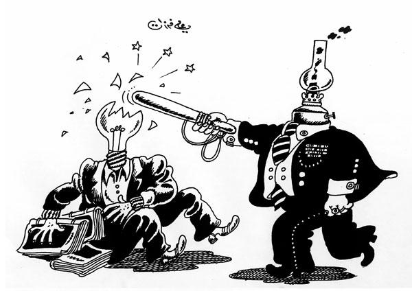 ali ferzat - علي فرزات-  كاريكاتير - عسكرتاريا - 310