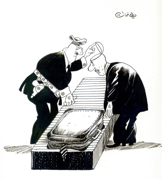 ali ferzat - علي فرزات-  كاريكاتير - عسكرتاريا - 313
