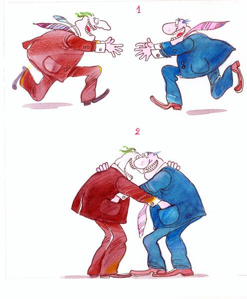 ali ferzat - علي فرزات-  كاريكاتير - نفاق - 320
