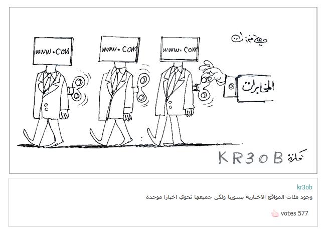 ali ferzat - علي فرزات-  كاريكاتير - كاريكاتير بافكاركم - 322