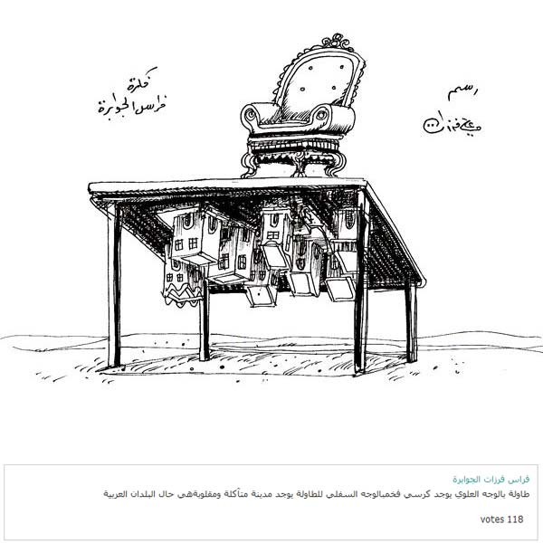 ali ferzat - علي فرزات-  كاريكاتير - كاريكاتير بافكاركم - 337