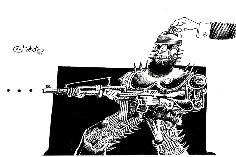 ali ferzat - علي فرزات-  كاريكاتير - ارهاب - 346
