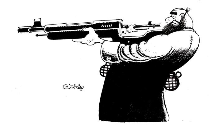 ali ferzat - علي فرزات-  كاريكاتير - ارهاب - 348