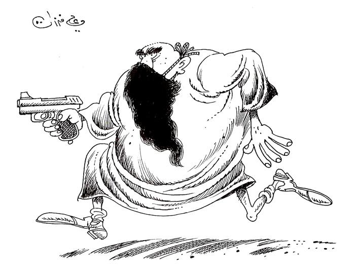 ali ferzat - علي فرزات-  كاريكاتير - ديننجي - 350