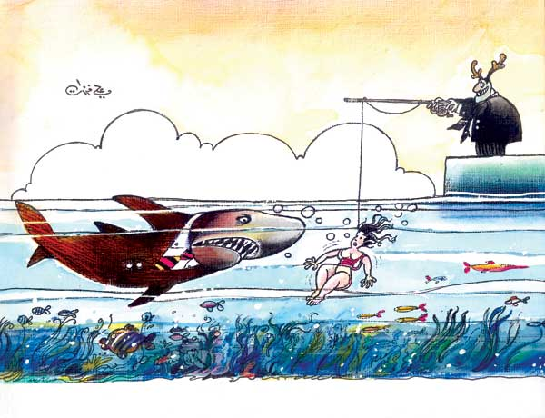 ali ferzat - علي فرزات-  كاريكاتير - سلطة - 354
