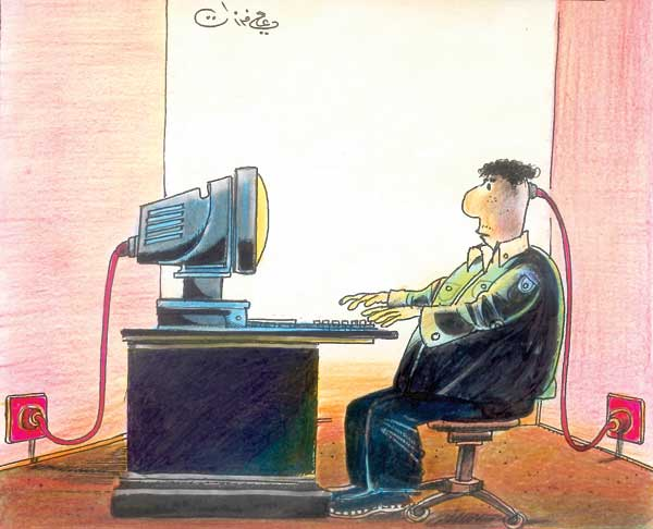 ali ferzat - علي فرزات-  كاريكاتير - عونطلوجيا - 356