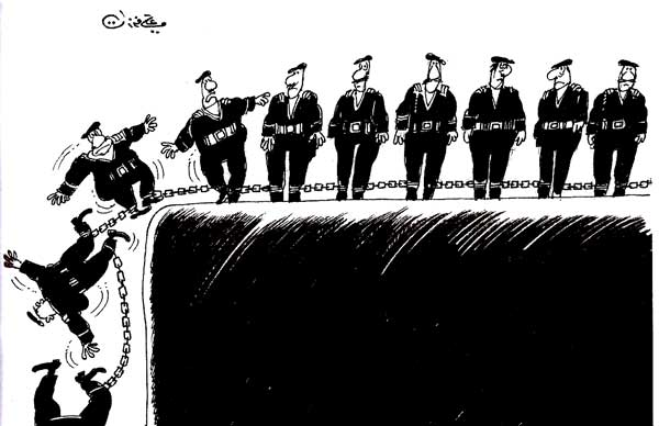 ali ferzat - علي فرزات-  كاريكاتير - عسكرتاريا - 357