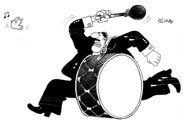 ali ferzat - علي فرزات-  كاريكاتير - مسخرة - 370