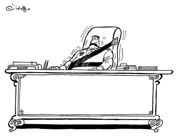 ali ferzat - علي فرزات-  كاريكاتير - عسكرتاريا - 372