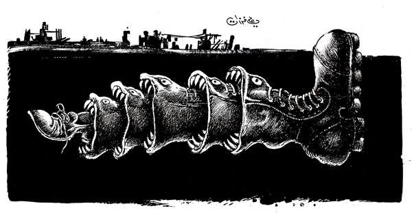 ali ferzat - علي فرزات-  كاريكاتير - سلطة - 378