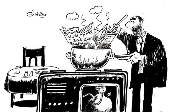 ali ferzat - علي فرزات-  كاريكاتير - احزاب سلطة - 381