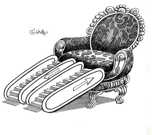 ali ferzat - علي فرزات-  كاريكاتير - سلطة - 390