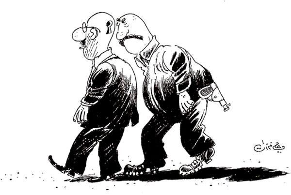 ali ferzat - علي فرزات-  كاريكاتير - احزاب سلطة - 393