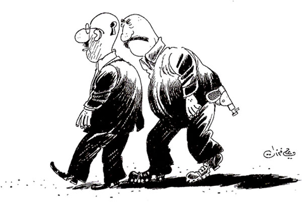 ali ferzat - علي فرزات-  كاريكاتير - مسخرة - 393
