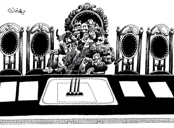 ali ferzat - علي فرزات-  كاريكاتير - سلطة - 394