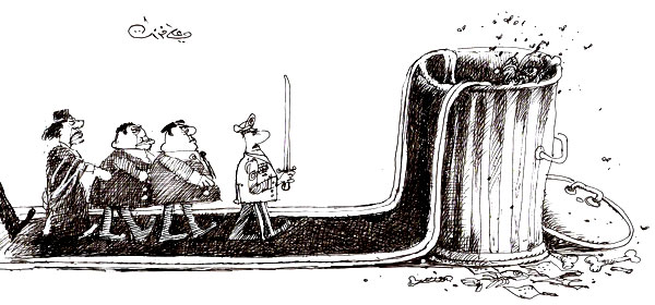 ali ferzat - علي فرزات-  كاريكاتير - مسخرة - 404