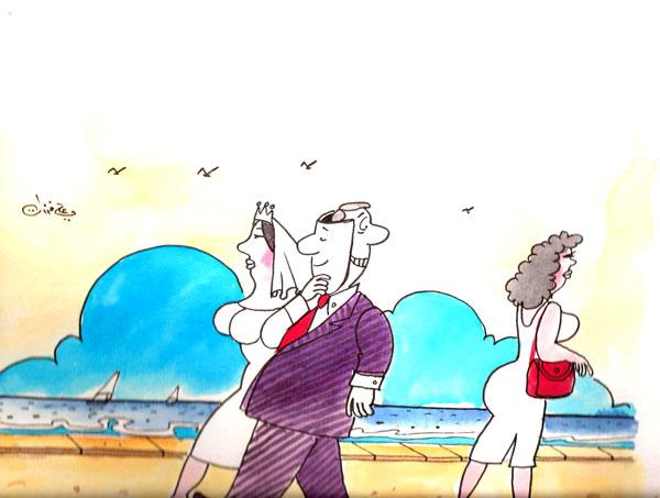 ali ferzat - علي فرزات-  كاريكاتير - نفاق - 427