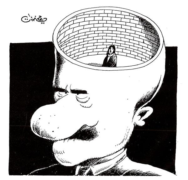 ali ferzat - علي فرزات-  كاريكاتير - مرأة - 429