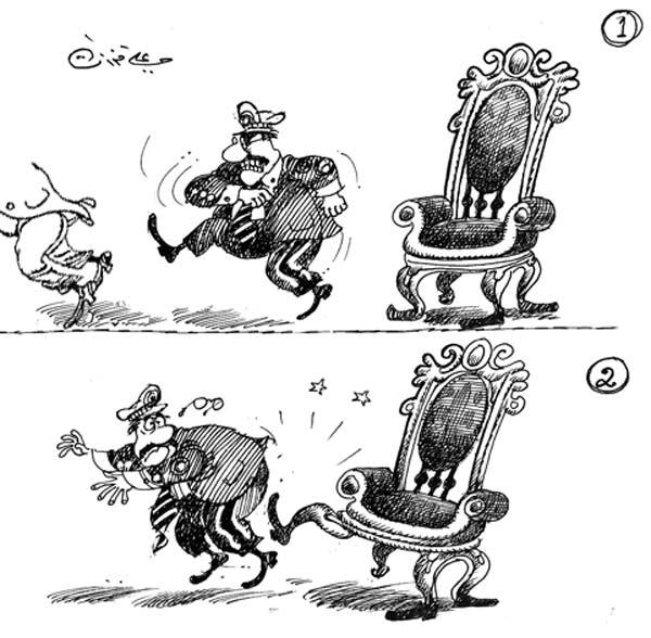 ali ferzat - علي فرزات-  كاريكاتير - عسكرتاريا - 475