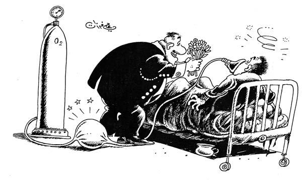 ali ferzat - علي فرزات-  كاريكاتير - سلطة - 476