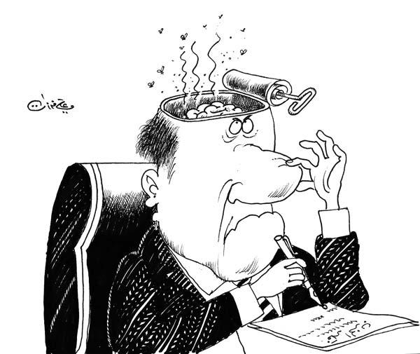 ali ferzat - علي فرزات-  كاريكاتير - سلطة - 482