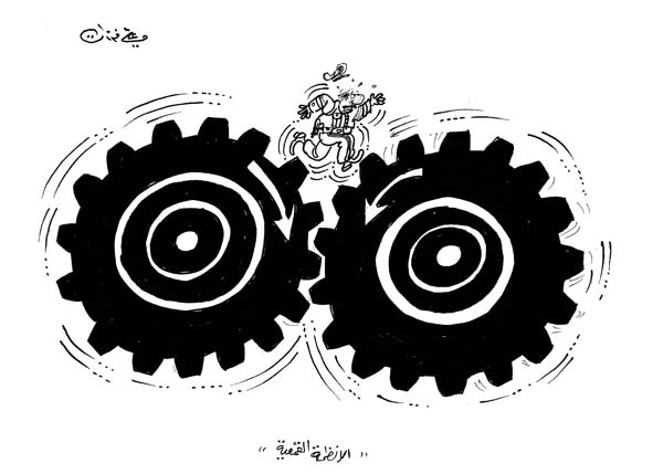 ali ferzat - علي فرزات-  كاريكاتير - سلطة - 487
