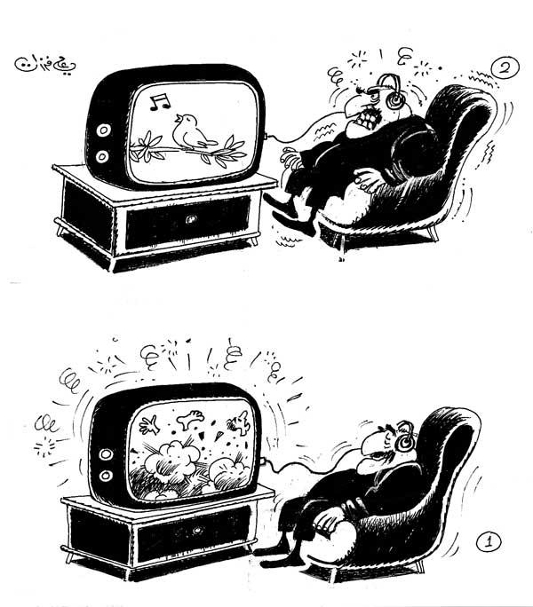 ali ferzat - علي فرزات-  كاريكاتير - ارهاب - 491