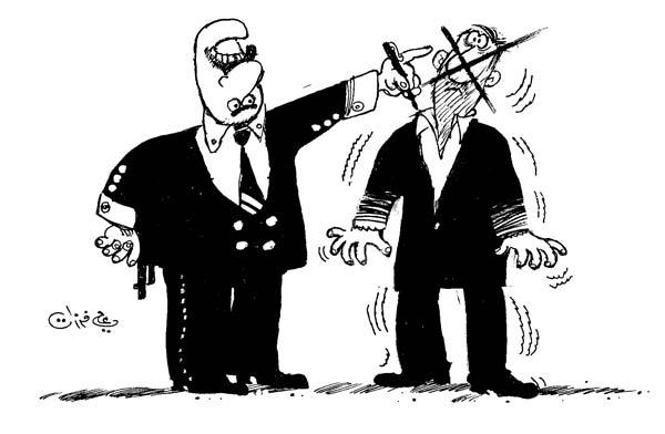 ali ferzat - علي فرزات-  كاريكاتير - احزاب سلطة - 526