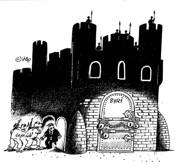 ali ferzat - علي فرزات-  كاريكاتير - سلطة - 543