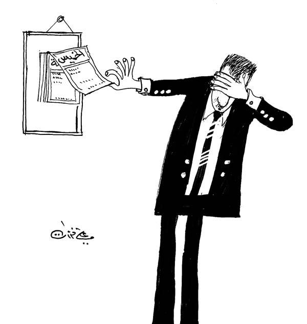 ali ferzat - علي فرزات-  كاريكاتير - سلطة - 545