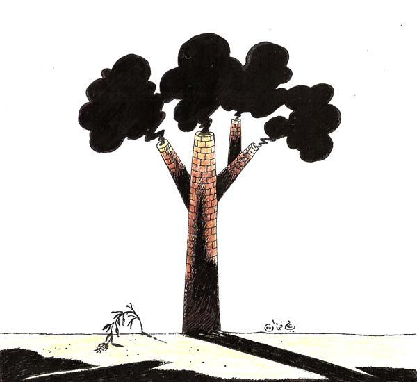 ali ferzat - علي فرزات-  كاريكاتير - بيئة - 558