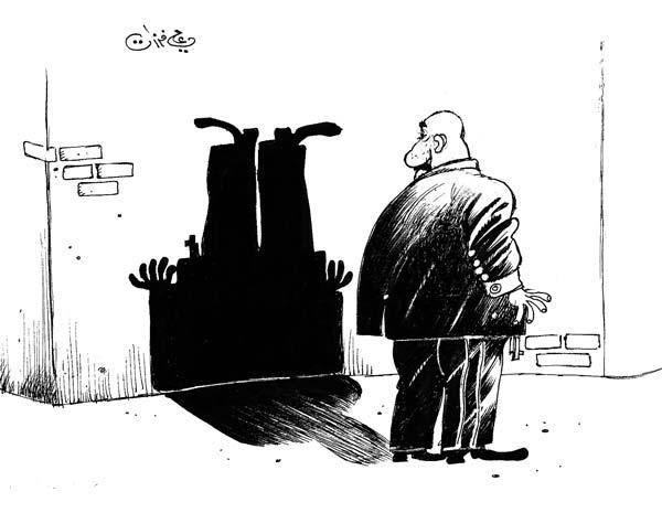 ali ferzat - علي فرزات-  كاريكاتير - مخابرات - 572