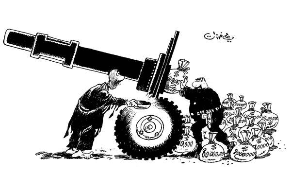 ali ferzat - علي فرزات-  كاريكاتير - احزاب سلطة - 578