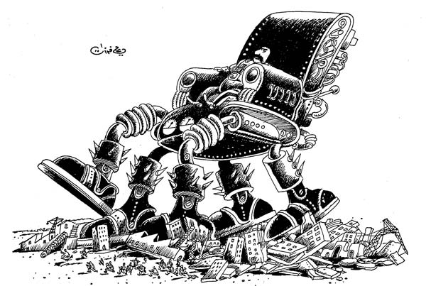 ali ferzat - علي فرزات-  كاريكاتير - ارهاب - 581